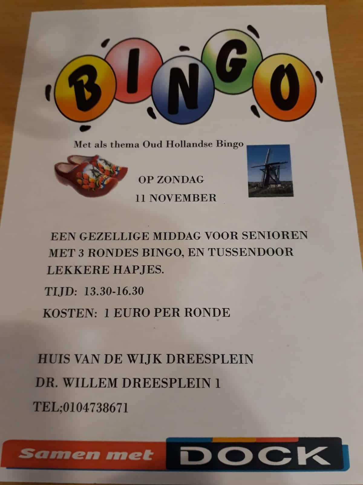 Gezellige Bingo Dreesplein