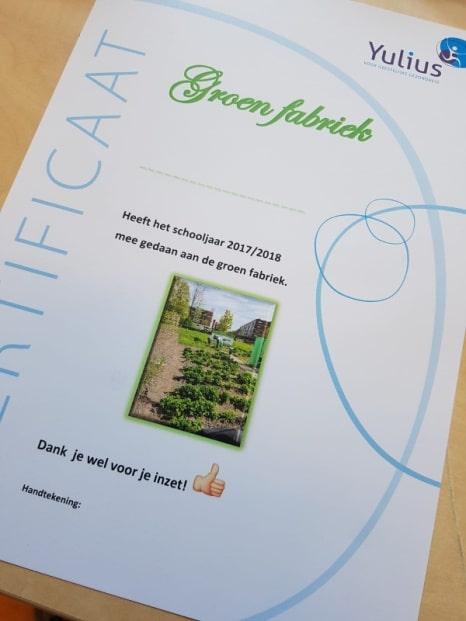 Een bericht van de Voedselbanktuin aan het Wibautplein